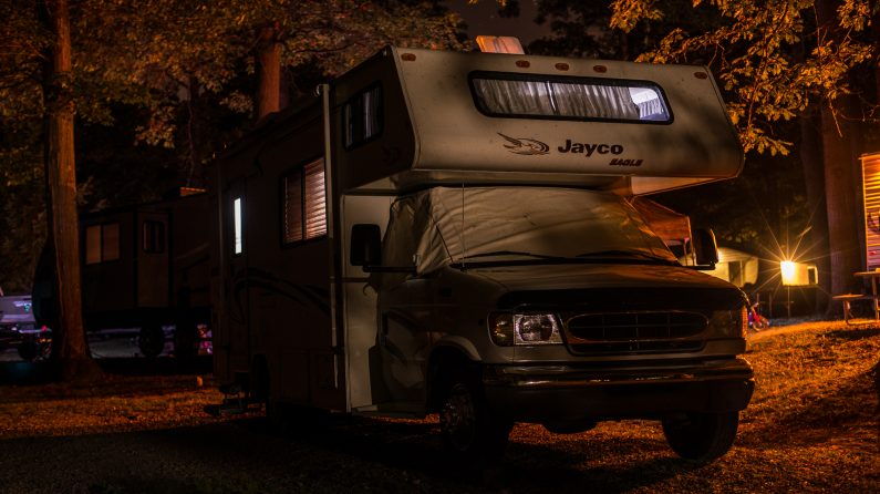 The Jayco posted up for Friday night